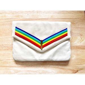 Vintage 70's Rainbow Clutch